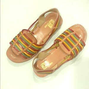 Dirty Laundry colorful strap leather flat sandals